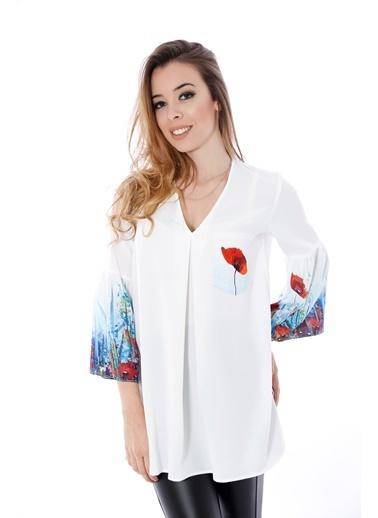 Soie Design Bluz Ekru